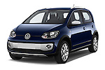 2014 Volkswagen up! Cross up! 5 Door Hatchback 2WD Angular Front stock photos of front three quarter view