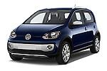 2014 Volkswagen up! Cross up! 5 Door Hatchback 2WD Angular Front stock photos of front three quarter view
