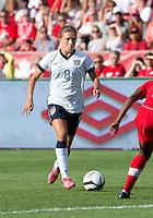 02 June 2013: U.S. Women's National Team midfielder Kristie Mewis #8 in action during an International Friendly soccer match between the U.S. Women's National Soccer Team and the Canadian Women's National Soccer Team at BMO Field in Toronto, Ontario.<br /> The U.S. Women's National Team Won 3-0.