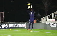 FORT LAUDERDALE, FL - DECEMBER 09: Bill Hamid #1 of the United States warming up during a game between El Salvador and USMNT at Inter Miami CF Stadium on December 09, 2020 in Fort Lauderdale, Florida.