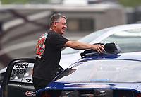 Apr 14, 2019; Baytown, TX, USA; NHRA mountain motor pro stock driver Scott Benham during the Springnationals at Houston Raceway Park. Mandatory Credit: Mark J. Rebilas-USA TODAY Sports