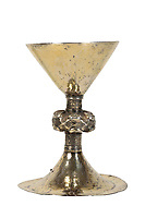 BNPS.co.uk (01202) 558833<br /> Pic: DukesAuctions/BNPS<br /> <br /> Pictured: The Catholic chalice.<br /> <br /> A 15th century silver chalice that was buried to save it from being melted down during the reformation has sold for £48,000 after being found in a cardboard box.<br /> <br /> The rare goblet is thought to have been an altar piece in a Roman Catholic Church in Galway, Ireland, in medieval times.<br /> <br /> Most pieces like it were seized by King Henry VIII's royal forces and destroyed or melted down during the dissolution of the monasteries.
