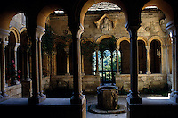 View looking into the cloisters in the Peto Garden at Iford Manor