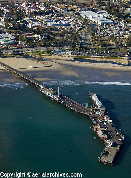 aerial photograph of Stearns Wharf, Santa Barbara, California
