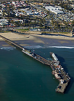 aerial photograph of Stearns Wharf, Santa Barbara, California