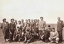 Iraq 1949? <br /> The elite of Erbil,  in the plain near the city, 5th from rignt standing, Zayd Ahmad Othman  <br /> Irak 1949? <br /> Dans la plaine d'Erbil, l'elite de la ville; Debout, 5eme a droite, Zayd Ahmad Othman