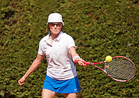 Netherlands, Amstelveen, August 22, 2015, Tennis,  National Veteran Championships, NVK, TV de Kegel,  Lady's  55+, Nora Blom<br /> Photo: Tennisimages/Henk Koster