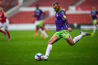 3rd October 2020; City Ground, Nottinghamshire, Midlands, England; English Football League Championship Football, Nottingham Forest versus Bristol City; Andreas Weimann of Bristol City sends in a cross from the wing