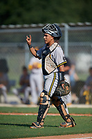 Salvador Alvarez (13) during the WWBA World Championship at Lee County Player Development Complex on October 8, 2020 in Fort Myers, Florida.  Salvador Alvarez, a resident of Miami, Florida who attends Montverde Academy, is committed to Florida.  (Mike Janes/Four Seam Images)