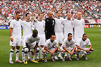 United States starting XI during an international friendly between the men's national teams of the United States (USA) and Turkey (TUR) at Lincoln Financial Field in Philadelphia, PA, on May 29, 2010.