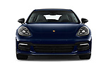Car photography straight front view of a 2018 Porsche Panamera Turbo Base 5 Door Hatchback