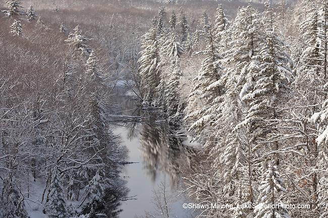 Winter, Dead River, Marquette County, MI