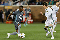 Minneapolis, MN - Saturday, September 22, 2018: Minnesota United FC played Portland Timbers in a Major League Soccer (MLS) game at TCF Bank stadium. Final score Minnesota United 3, Portland Timbers 2