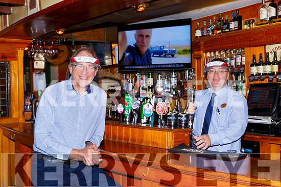 Sean Murphy left and John Lyne bar manager who are delighted to have Murphy's bar Killarney reopened again