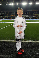SWANSEA, WALES - MARCH 16: Child mascot<br /> Re: Premier League match between Swansea City and Liverpool at the Liberty Stadium on March 16, 2015 in Swansea, Wales
