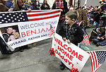 Zachary Krainbrink, 6, of Reno, waits for his dad who returned with the 422nd Expeditionary Signal Battalion of the Nevada National Guard on Sunday, Jan. 15, 2012, after a yearlong deployment to Afghanistan. Hundreds of family and friends greeted the soldiers at the Nevada Air Guard Base in Reno, Nev..Photo by Cathleen Allison