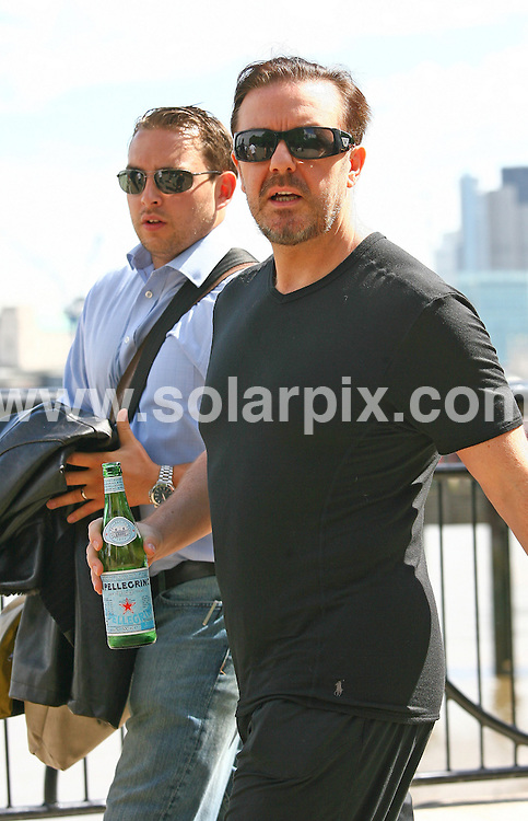 **ALL ROUND EXCLUSIVE PICTURES FROM SOLARPIX.COM**.**WORLDWIDE SYNDICATION RIGHTS**.arrives at This Mornings TV Show on the South Bank in London, UK. 19 July 2010..This pic: Ricky Gervais..JOB REF: 11711 LNJ     DATE: 19_07_2010.**MUST CREDIT SOLARPIX.COM OR DOUBLE FEE WILL BE CHARGED**.**MUST NOTIFY SOLARPIX OF ONLINE USAGE**.**CALL US ON: +34 952 811 768 or LOW RATE FROM UK 0844 617 7637**