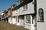 Rye, East Sussex UK.  Medieval building family homes in Church Square.