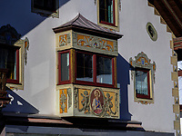Bemaltes Haus, Nassereith. Gurgltal in Tirol, Österreich, Europa<br /> House with murals, Nassereith, , district Imst, Tyrol, Austria, Europe
