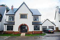 Wednesday 08 February 2017<br />Pictured: Exterior view of the new house<br />Re: Huw and Kelly have moved into a new Waterstone House near Swansea, South Wales.