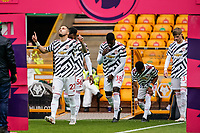 23rd May 2021; Molineux Stadium, Wolverhampton, West Midlands, England; English Premier League Football, Wolverhampton Wanderers versus Manchester United; Manchester United players walk onto the pitch