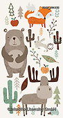 Lamont, GIFT WRAPS, GESCHENKPAPIER, PAPEL DE REGALO, paintings+++++,USGTSP1571,#gp#, EVERYDAY ,notebook,notebooks,bear,moose,fox