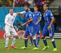 "England""s Wayne Rooney Is heavily Marked"