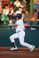 Daytona Tortugas left fielder Jeff Gelalich (15) at bat during a game against the Fort Myers Miracle on April 17, 2016 at Jackie Robinson Ballpark in Daytona, Florida.  Fort Myers defeated Daytona 9-0.  (Mike Janes/Four Seam Images)