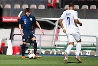 GUADALAJARA, MEXICO - MARCH 28: Sam Vines #13 of the United States dribbles with the ball during a game between Honduras and USMNT U-23 at Estadio Jalisco on March 28, 2021 in Guadalajara, Mexico.