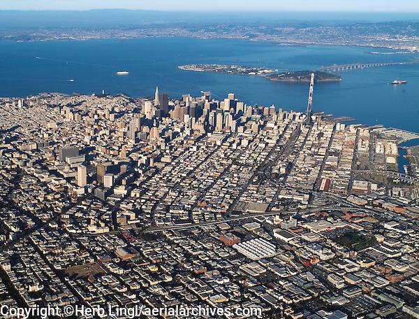 aerial photograph Mission District, San Francisco, California