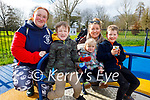 Enjoying the playground in the Tralee town park on Sunday, l to r: Lima and Axel Rodenbikere, Elaine McCarthy, Sean and Eva Keliher.