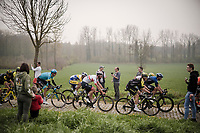 peloton in the Paddestraat<br /> <br /> 103rd Ronde van Vlaanderen 2019<br /> One day race from Antwerp to Oudenaarde (BEL/270km)<br /> <br /> ©kramon
