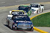 NASCAR Camping World Truck Series<br /> Alpha Energy Solutions 250<br /> Martinsville Speedway, Martinsville, VA USA<br /> Saturday 1 April 2017<br /> Harrison Burton, Justin Haley, Brett Moffitt<br /> World Copyright: Logan Whitton/LAT Images<br /> ref: Digital Image 17MART1LW1790