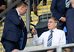 St Johnstone v Brechin….24.07.19      McDiarmid Park     Betfred Cup       <br />Saints Chairman Steve Brown talks with his father Geoff Brown<br />Picture by Graeme Hart. <br />Copyright Perthshire Picture Agency<br />Tel: 01738 623350  Mobile: 07990 594431