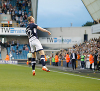 GOAL - Millwall's Aiden O'Brien celebrates in front of the home fans during the Sky Bet Championship match between Millwall and Ipswich Town at The Den, London, England on 15 August 2017. Photo by Carlton Myrie.