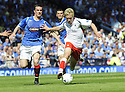 30/05/2009  Copyright  Pic : James Stewart.sct_jspa_02_rangers_v_falkirk.SCOTT ARFIELD GETS AWAY FROM BARRY FERGUSON.James Stewart Photography 19 Carronlea Drive, Falkirk. FK2 8DN      Vat Reg No. 607 6932 25.Telephone      : +44 (0)1324 570291 .Mobile              : +44 (0)7721 416997.E-mail  :  jim@jspa.co.uk.If you require further information then contact Jim Stewart on any of the numbers above.........