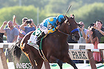 June 6, 2015: American Pharoah, Victor Espinoza up, wins the 147th running of the Grade I  Belmont Stakes and with it the Triple Crown at Belmont Park, Elmont, NY.  Joan Fairman Kanes/ESW/CSM