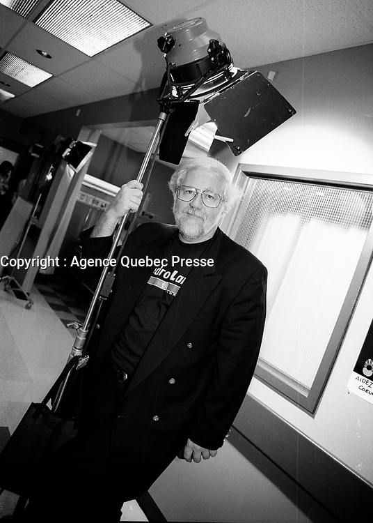 Montreal (Qc) CANADA - 1996<br /> -File Photo -<br /> Rejean Tremblay, Scriptwriter,<br /> On the set of URGENCES TV serie.