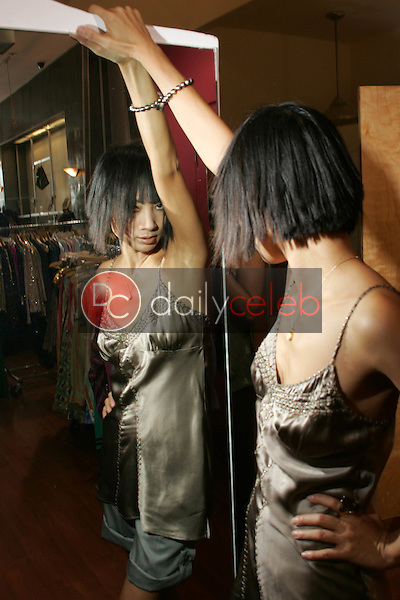 Bai Ling with Top by Gold Hawk and Jeans by TAG Jeans<br />at TAG RAG Boutique, Beverly Hills, CA. 08-30-06<br />Dave Edwards/DailyCeleb.com 818-249-4998<br />Exclusive