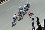 The breakaway group in action during Stage 2 of the 2015 Presidential Tour of Turkey running 182km from Alanya to Antalya. 27th April 2015.<br /> Photo: Tour of Turkey/Stiehl Photography/Mario Stiehl/www.newsfile.ie