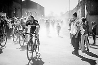Maciej Bodnar (POL/Bora-Hansgrohe) exiting the first part of the 1st cobbled sector from Troisvilles to Inchy<br /> <br /> 115th Paris-Roubaix 2017 (1.UWT)<br /> One Day Race: Compiègne › Roubaix (257km)