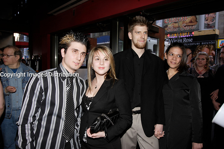 Montreal (Qc) Canada, May 3rd 2007<br /> <br /> One Away Band<br /> at the red carpet event to celebrate that<br /> Paramount become Scotia Bank Cinema<br /> <br /> photo : Pierre Roussel (c)  Images Distribution