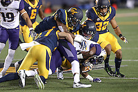 BERKELEY, CA - October 5, 2016: Cal Bears football team vs. Washington Huskies at California Memorial Stadium. Final score, Cal Bears 27, Washington Huskies 66.