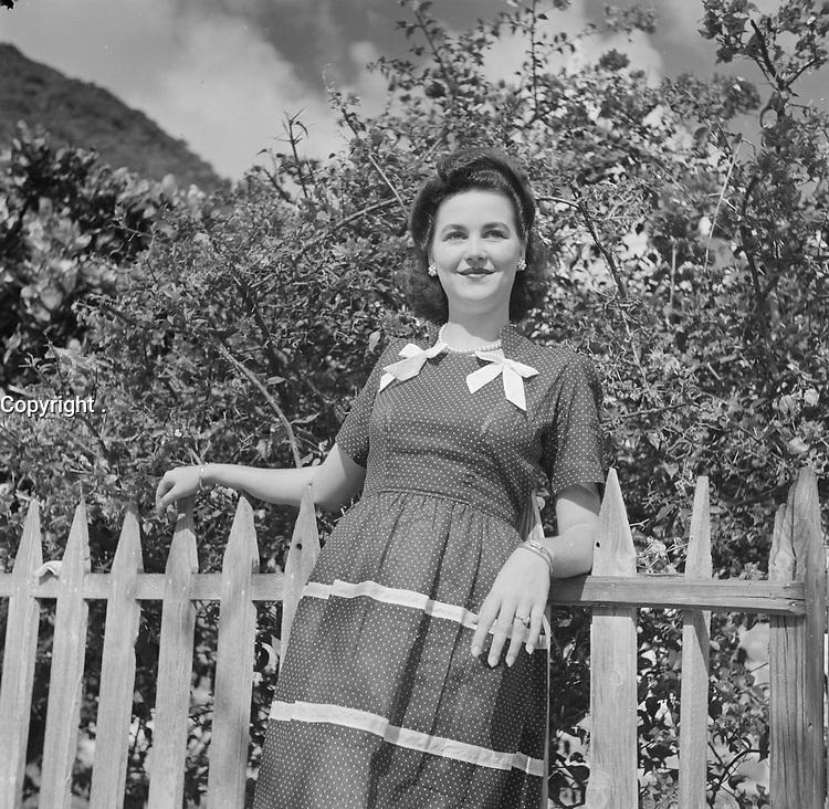 Mrs. Johnson ; teacher<br /> Date 1947<br /> Location Netherlands Antilles, Saba