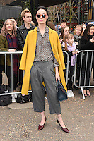 Erin O'Connor<br /> arrives for the Topshop Unique AW17 show as part of London Fashion Week AW17 at Tate Modern, London.<br /> <br /> <br /> ©Ash Knotek  D3232  19/02/2017