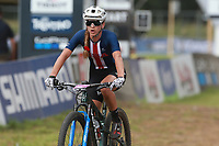 28th August 2021; Commezzadura, Trentino, Italy;  2021 Mountain Bike Cycling World Championships, Val di Sole; Cross Country, Womens Under 23, Gwendalyn GIBSON (USA)