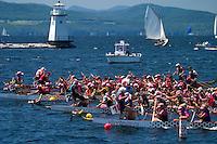 Dragon  Boat Races held in Burlington, VT.