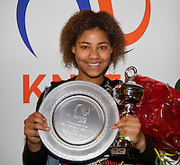 Almere, Netherlands, December 6, 2015, Winter Youth Circuit, Overall Winner girls 16 years: Noa Liauw-A-Fong<br /> Photo: Tennisimages/Henk Koster