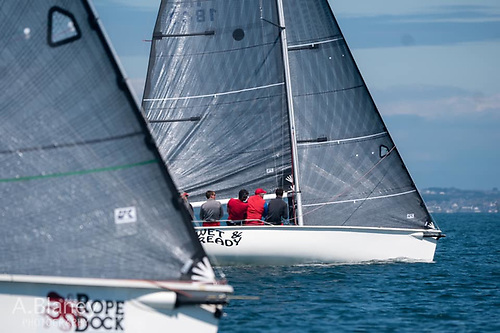Neck and neck for the new Easterns Champion Atara (aka Rope Dock) and Wet & Ready. Photo: Annraoi Blaney