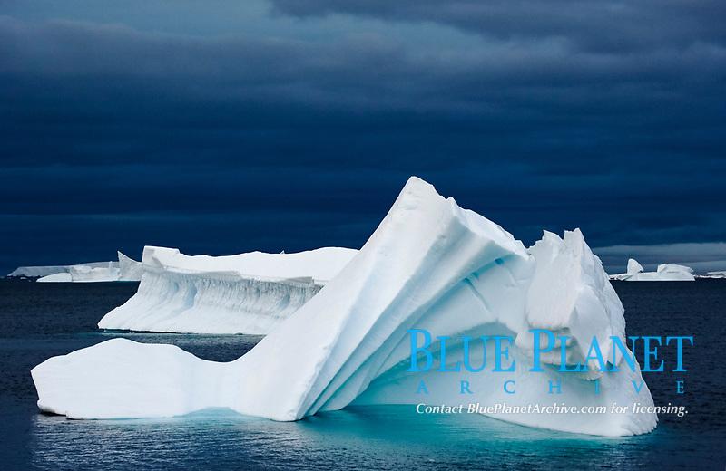 Iceberg, near Petermann Island, Antarctica, Southern Ocean